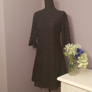 H&M Black lace, 3/4 sleeve mini dress